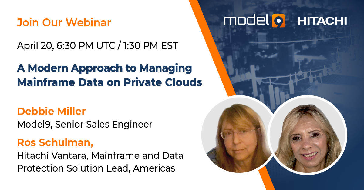 Model9   Webinar - A Modern Approach to Managing Mainframe Data on Private Clouds   Banner